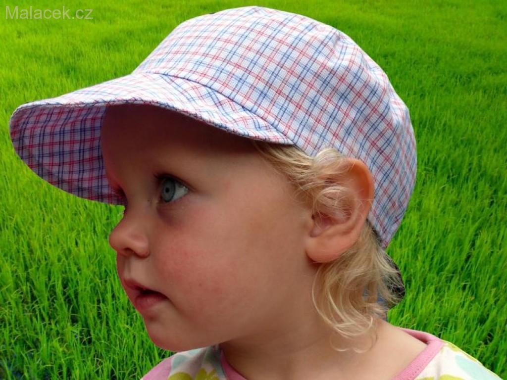 Dětská kšiltovka Fantom bekovka - č. 1 bílo-růžovo-modrá kostka 1d76ca9c68
