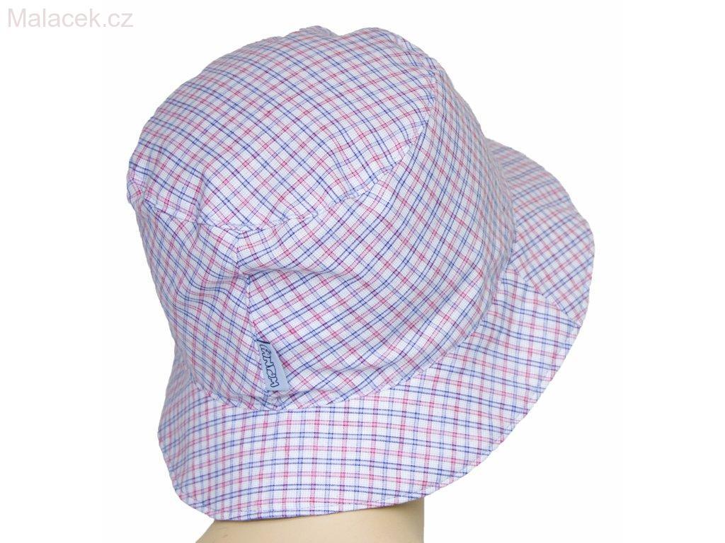 Dětský klobouk Fantom - č. 1 bílo-růžovo-modrá kostka 757e5473cd