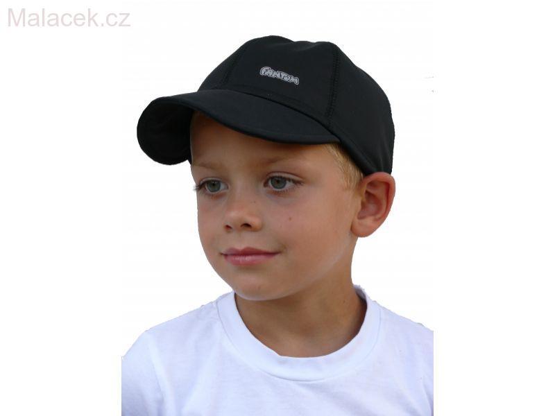 Dětská kšiltovka Fantom tenký SOFTSHELL - černá b4d713da75