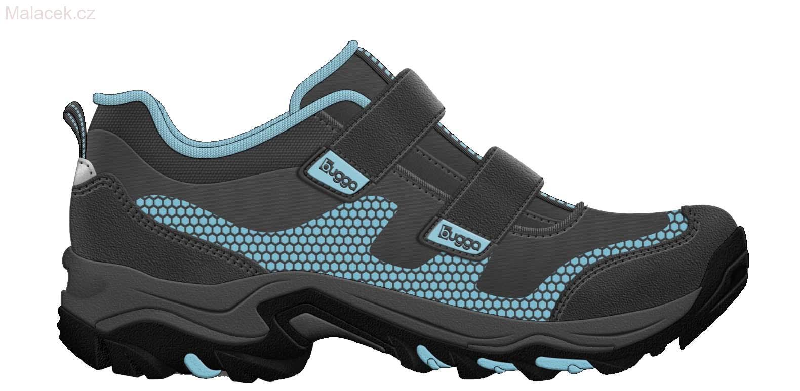Celoroční softshellová sportovní obuv BUGGA - modrá barva
