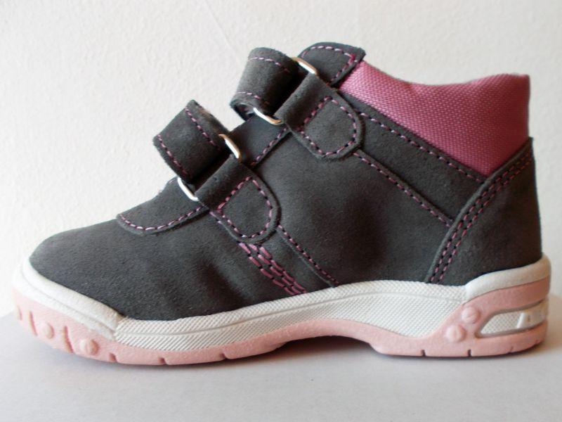 5942f383ae0 Celoroční kožená obuv SANTÉ HP 4912B Šedo-růžová
