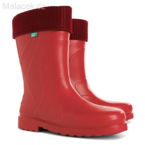 Gumáky   holínky zateplené LUNA C ultra lehké (červené) e477b93bd71