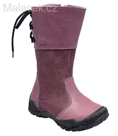 1610bbffb11 Dětská zimní obuv Santé tmavě fialovo-růžová