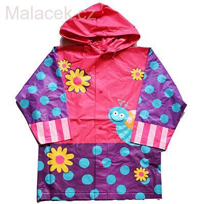 Dětská pláštěnka Pidilidi s motivem květiny se šnekem 3adc48f6109