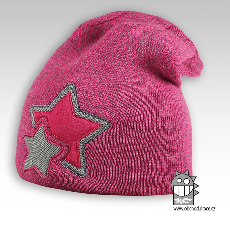 Čepice pletená Star - vzor 04 69eda85fe5
