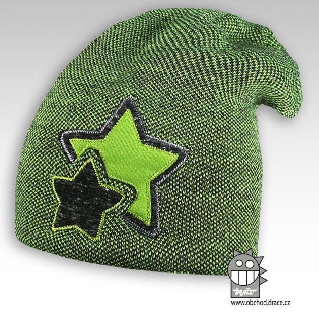 Čepice pletená Star - vzor 05 c316dc9d39