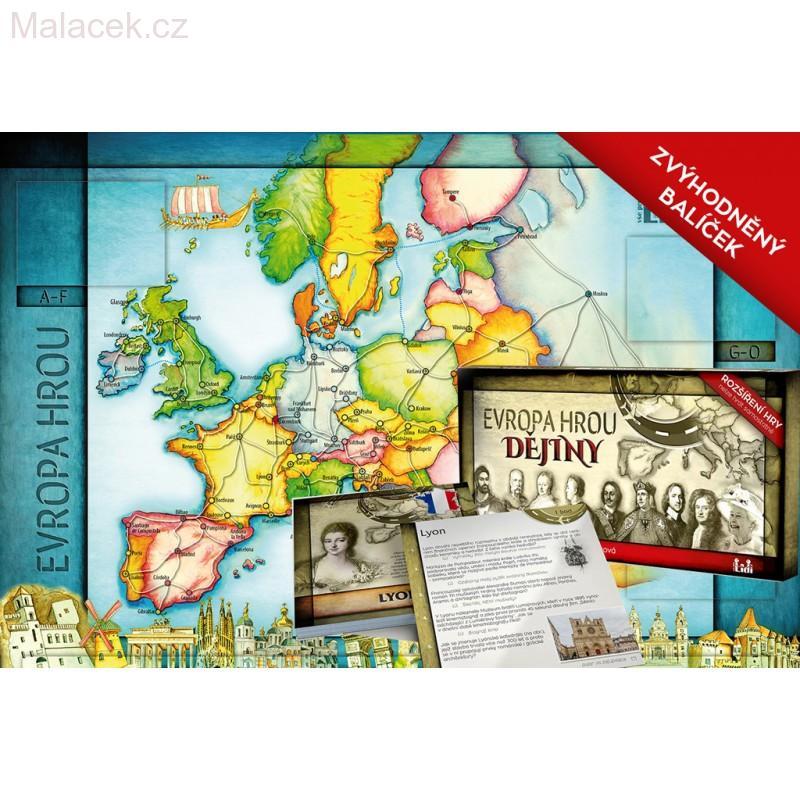 Evropa hrou + DĚJINY ( zvýhodněný balíček )