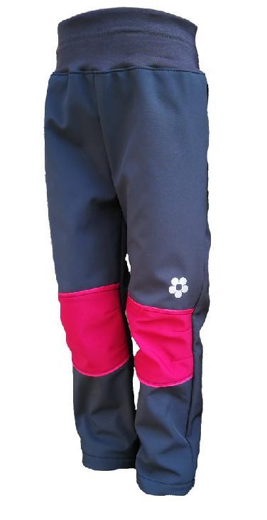 Softshellové kalhoty KUKADLOO - šedé s fuchsiovými koleny 31c15caef7