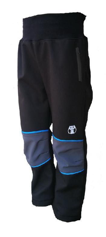 Softshellové kalhoty KUKADLOO - černé s kapsami na zip (30.000mm 6e92890b14