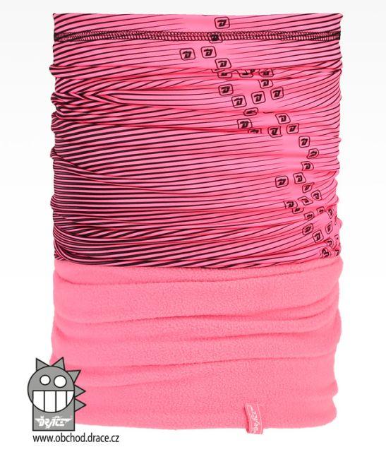 Šátek - nákrčník multi fleece vzor 28 (růžová) 34ca43b527