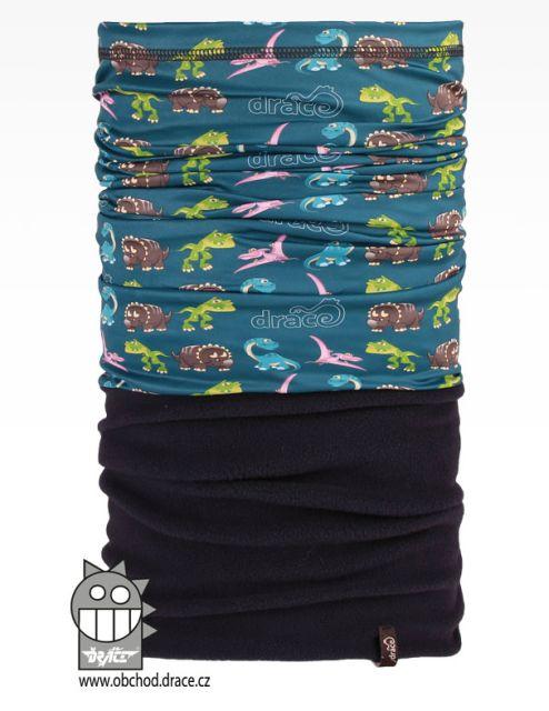 Šátek - nákrčník multi fleece vzor 36 (modrá 17c20e54de