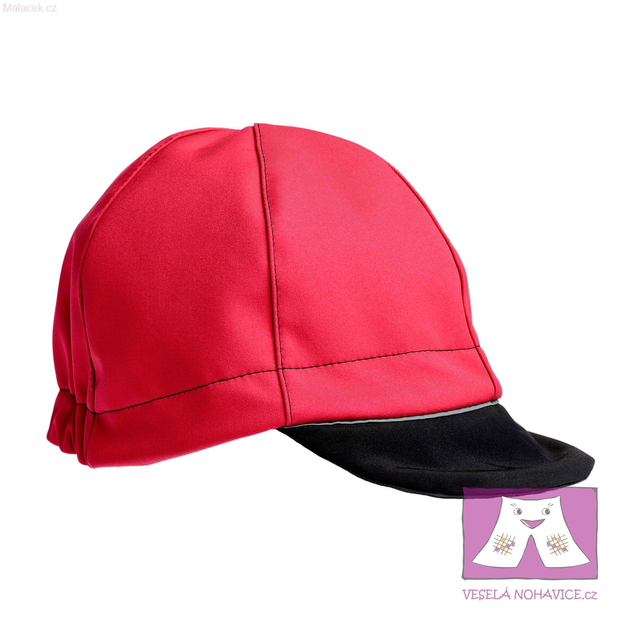 Softshellová čepice červeno-černá 16db2ce093