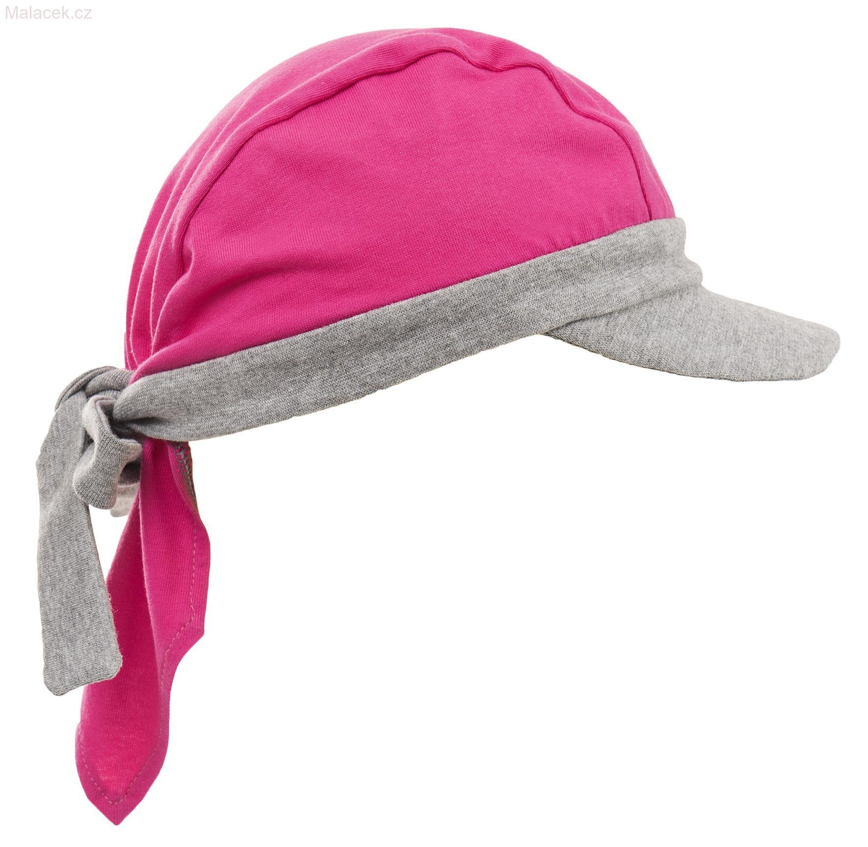 a71fd4746df Pirátský šátek s kšiltem růžový