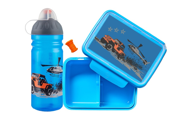 SET Jeep, lahev 0,7 l + modrý box