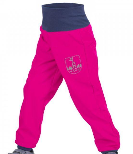 Unuo dětské softshellové kalhoty BATOLE fuchsiové s EVŽENEM d2c4f92dcf